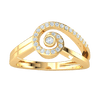 0.15 Ct GH I1 Delicately Swirled Real Ring Inlaid With Beautiful White Diamonds in 14 kt Gold