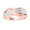 0.53 Ctw Elegant Real Band Encompasses These Beautifully Set White Diamonds in FG VS2 18 kt Gold