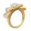 1.69 Ctw Glamerous White Diamond Solitare Ring Enchanted By A Real Bow Encrusted With Beautiful Diamonds in IJ SI2 14 kt Gold
