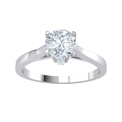 Absolutely Stunning White Diamond Solitare Set On A Beautiful Real Band 0.36 Ct GH I1-I2 and 10 kt Gold