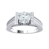 1.18 Ctw Gorgeous White Diamond Solitare Ring Set In Real Surrounded By Beautiful Rows Of Diamonds And A Diamond Encrusted Band in J SI2 10 kt Gold