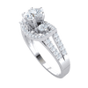 1.01 Ct J SI2 Absolutely Stunning White Diamond Soliatare Ring Surrounded By A Rectangle Of Diamonds And Diamond Encrusted Band in 10 kt Gold