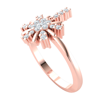 0.28 Ctw This Enchanting Real Ring Has A Beautiful 7 Stone White Diamond Centerpiece With A Gorgeous Arrangement Of Diamonds in IJ SI2 14 kt Gold