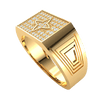 Stunningly Crafted Real Ring Emblazzend With White Diamonds And Spectacular Centerpiece 0.24 Ct JK I1 and 10 kt Gold