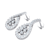 0.61 Ct GH I1-I2 Very Stunning Real Earrings With Several Heart Stopping White Diamonds in 10 kt Gold