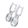 0.81 Ct GH I1 These Stunning Real Earrings Are Covered In White Diamonds With Sparkling Diamond Centerpiece in 14 kt Gold