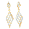 0.79 Ct GH I1 Exquisite Real Dangle Earrings Are Enchantingly Covered In White Diamonds in 14 kt Gold