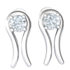 0.74 Ctw Sparkling White Diamond Stud Earrings Emcompassed By Stunning Real in IJ SI2 14 kt Gold