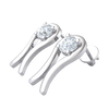 0.74 Ct GH I1-I2 Sparkling White Diamond Stud Earrings Emcompassed By Stunning Real in 10 kt Gold
