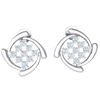 0.53 Ctw 3 Sparkling Rows Of White Diamonds Emcompassed By Classically Designed Real in JK I1 10 kt Gold