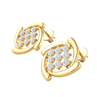 0.53 Ct GH I1 3 Sparkling Rows Of White Diamonds Emcompassed By Classically Designed Real in 14 kt Gold