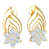 0.37 Ct JK I1 Absolutely Stunning Real Double Tear Drop Earrings With A Dazzeling 7 Stone Setting in 10 kt Gold