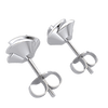 0.45 Ct IJ SI2 Absolutely Gorgeous White Diamond Solitare Stud Earrings Surrounded By Beautiful Real in 14 kt Gold