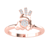 0.10 Ctw Extremely Creative With A 7 Stone White Diamond Centerpiece And An Artistic Design Around And Above Set In A Real Band in GH I1-I2 10 kt Gold