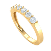 0.49 Ct GH I1-I2 Gorgeous Real Band With 7 Extremely Elegant White Diamond Solitares in 10 kt Gold