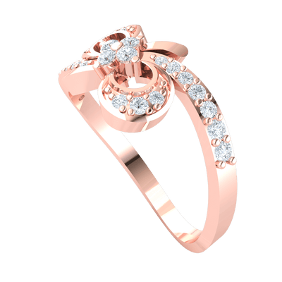 0.31 Ct GH I1-I2 Beautiful Real With Diamond Wrap Around, A Diamond Filled Infinity Symbol And A Sparkling White Diamond Centerpiece in 10 kt Gold