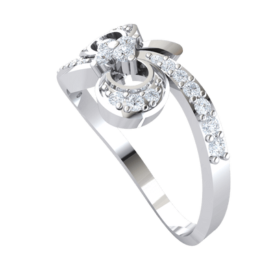 Beautiful Real With Diamond Wrap Around, A Diamond Filled Infinity Symbol And A Sparkling White Diamond Centerpiece 0.31 Ct GH SI2 and 14 kt Gold