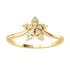 0.05 Ctw Very Creative Real Star Shaped Ring Is Made Up Of Several Triangles Each Set With A White Diamond in GH SI1 14 kt Gold