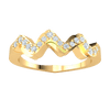 0.17 Ct GH SI2 Truely Unique Real Wavy Band Encrusted With Several Sparkling White Diamonds in 14 kt Gold