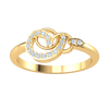 0.10 Ct GH I1-I2 One Of A Kind Real Rings Are Radiantly Swirled With White Diamonds in 10 kt Gold