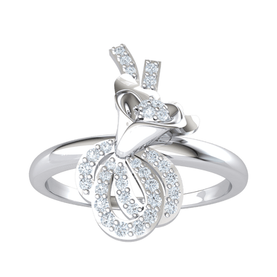 0.19 Ctw Absolutely Amazing Flower Made Of Real And Decorated With Several White Diamonds in J SI2 10 kt Gold