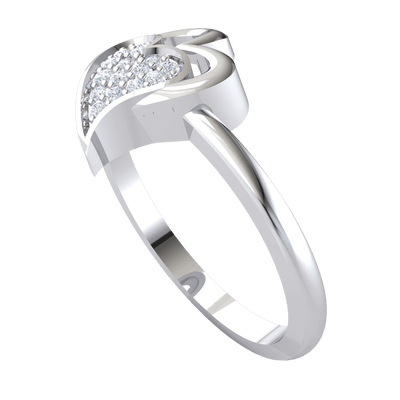 0.09 Ct JK I1 Perfectly Paired Double Heart Made Of Real And Filled With Sparkling White Diamonds in 10 kt Gold