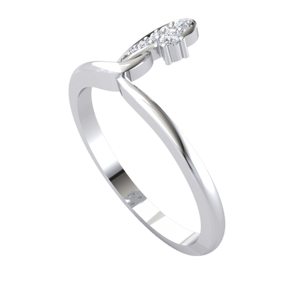 0.07 Ct GH I1 Beautiful Real Wrap Around With a Gorgeous White Diamond Extension in 14 kt Gold
