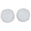 1.50 Ctw Beautiful Real Circular Stud Earrings With Rows Of Sparkling White Diamonds in JK I1 10 kt Gold