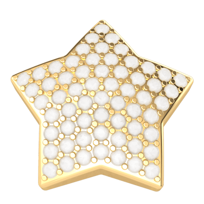 Enchanting Star Shaped Real Stud Earrings Covered In Sparkling White Diamonds 0.53 Ct GH I1 and 14 kt Gold
