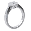 0.34 Ctw Extremely Elegant 7 Stone White Diamond Centerpiece Surrounded By Diamonds In A Partial Diamond Filled Real Band in GH SI2 14 kt Gold