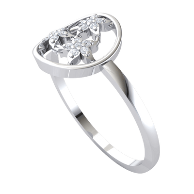 3 Beautiful 7 Stone Flowers Come Together To Make A Gorgeous Centerpiece Set In A Real Band 0.07 Ct JK I1 and 10 kt Gold