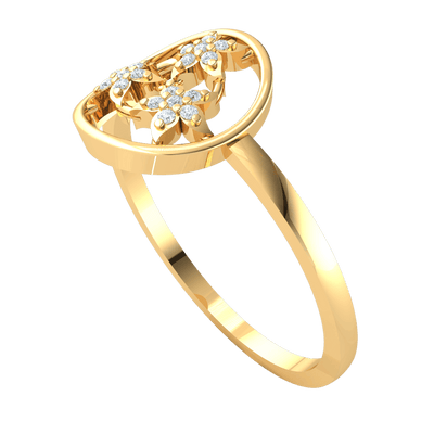 0.07 Ctw 3 Beautiful 7 Stone Flowers Come Together To Make A Gorgeous Centerpiece Set In A Real Band in IJ SI2 14 kt Gold
