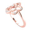 0.07 Ctw Classy And Fun Real Flower With Several Sparkling White Diamond Solitares in IJ SI2 14 kt Gold