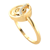 0.04 Ctw Classic Circular Formation Made Of Real With A Row Of Sparkling White Diamonds in JK I1 10 kt Gold