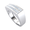 1.00 Ctw 2 Rows Of Beautiful Square Cut White Diamonds In A Classic Real Wide Band in GH I1-I2 10 kt Gold