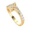 0.46 Ct JK I1 Gorgeous Real Wrap Band Full Of Beautiful Diamonds With White Diamond Solitares On Each Side in 10 kt Gold