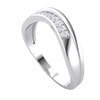 0.08 Ct GH I1 Absolutely Lovely Real Band Inlaid With A Row Of Sparkling White Diamonds in 14 kt Gold