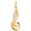 This Elegant Real Pendant Is Beautifully Crafted With An Array Of White Diamonds 0.11 Ct IJ SI2 and 14 kt Gold