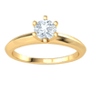 0.37 Ct J SI2 Radiant White Diamond Solitare Set In A Spectacular Real Band in 10 kt Gold