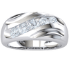 0.55 Ct G SI1 Irresistable Real Wide Band With 5 Stunning White Diamonds in 18 kt Gold