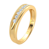0.25 Ctw Glamerous Real Band With Sparkling White Diamonds And Perfect Bullets in GH SI2 14 kt Gold