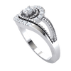 Radiant White Diamond Solitare With Beautiful Real And Diamond Display 0.27 Ct GH I1-I2 and .925 Sterling Silver
