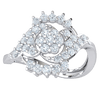 0.49 Ctw Truely Magnificent Array Of White Diamonds And A Swirling Sea Of Real in GH I1 14 kt Gold
