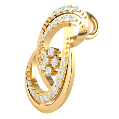 0.24 Ct IJ SI2 Gorgeous And Majestic This Real Artistic Infinity Symbol Real Pendant Is Covered In An Array Of White Diamonds in 14 kt Gold