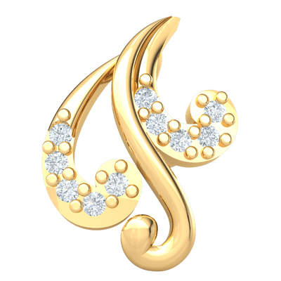 0.04 Ct JK I1 This Whimsical Real Pendant Is Beautifully Crafted With An Array Of White Diamonds in 10 kt Gold