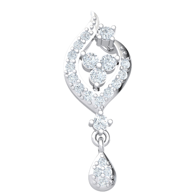 0.25 Ct JK I1 Exquisite Real Teardrop Pendant Embedded With Beautiful White Diamonds in 10 kt Gold
