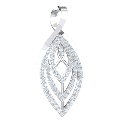 Timeless But Stunning Real Oval Pendant Covered In Beautiful White Diamonds 0.89 Ct JK I1 and 10 kt Gold