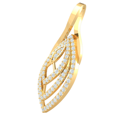 0.89 Ctw Timeless But Stunning Real Oval Pendant Covered In Beautiful White Diamonds in GH I1 14 kt Gold