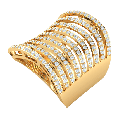 1.12 Ct GH I1 Breathe Taking Rows Of Sparkling White Diamonds Set In A Real Band in 14 kt Gold