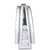 0.03 Ct GH I1-I2 Stunning 3 Row Real Waterfall Pendant With Beautifully Increasing Size White Diamonds in 10 kt Gold